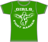 PROTECTION OF HATE - Girlie Girls fight harder - grün front