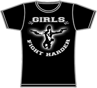 PROTECTION OF HATE - Girlie Girls fight harder schwarz front