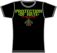 PROTECTION OF HATE - Girlie TEN YEARS OF HATE schwarz front