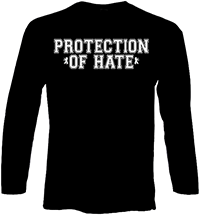 PROTECTION OF HATE - Longsleeve Girls fight harder schwarz back