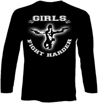 PROTECTION OF HATE - Longsleeve Girls fight harder schwarz front