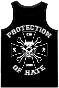 PROTECTION OF HATE - Muskelshirt UNDERDOG schwarz back