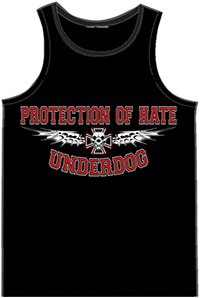 PROTECTION OF HATE - Muskelshirt UNDERDOG schwarz front