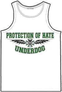 PROTECTION OF HATE - Muskelshirt UNDERDOG weiss front