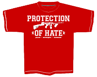 PROTECTION OF HATE - T-Shirt CRIME rot front