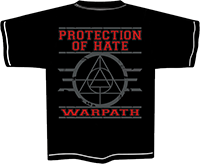 PROTECTION OF HATE - T-Shirt POHC Warpath schwarz back