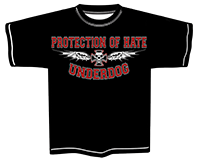 PROTECTION OF HATE - T-Shirt UNDERDOG schwarz front
