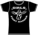 PROTECTION OF HATE - Girlie Girls fight harder schwarz