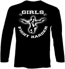 PROTECTION OF HATE - Longsleeve Girls fight harder schwarz