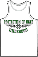 PROTECTION OF HATE - Muskelshirt UNDERDOG weiss