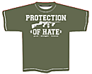 PROTECTION OF HATE - T-Shirt CRIME olive