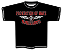 PROTECTION OF HATE - T-Shirt UNDERDOG schwarz